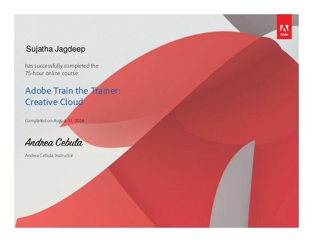 adobe certificate trainer train slideshare upcoming