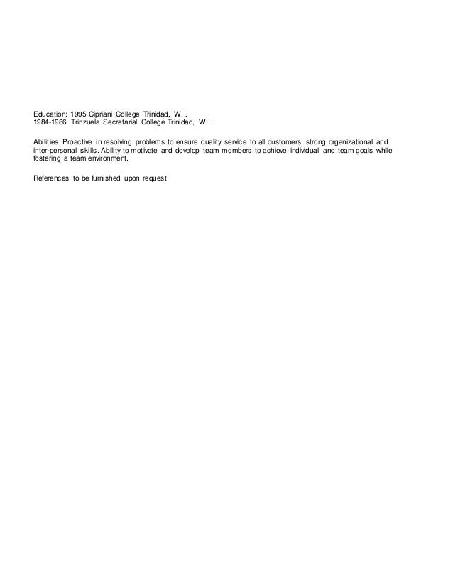 marlene updated resume