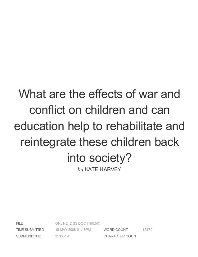effects of war on children