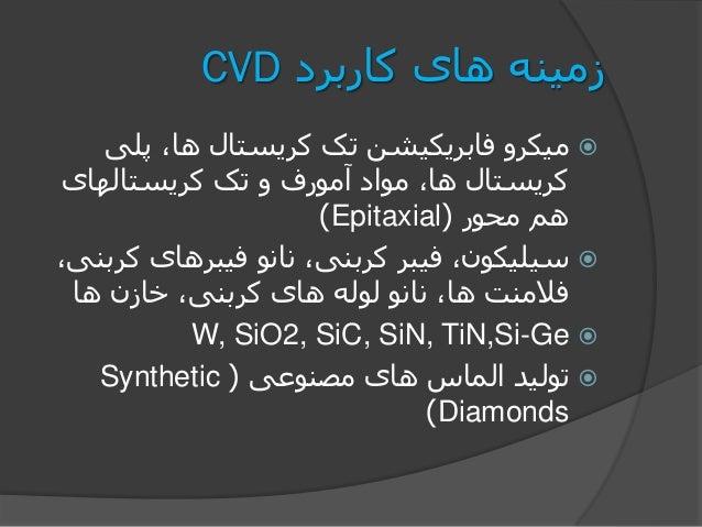کاربرد های زمینهCVD پلی ،ها کریستال تک فابریکیشن میکرو کریستالهای تک و آمورف مواد ،ها کریس...