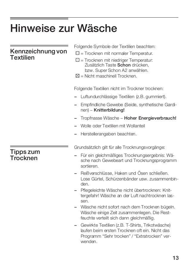Beschreibung Fur Kondensationstrockner Siemens Wtxl 2400