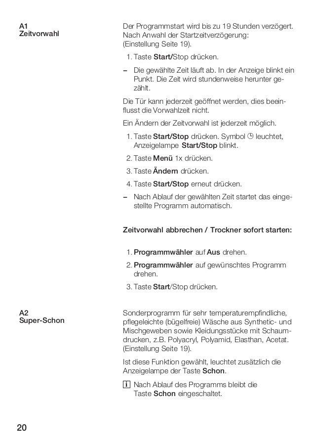 Beschreibung für Kondensationstrockner Siemens WTXL 2400