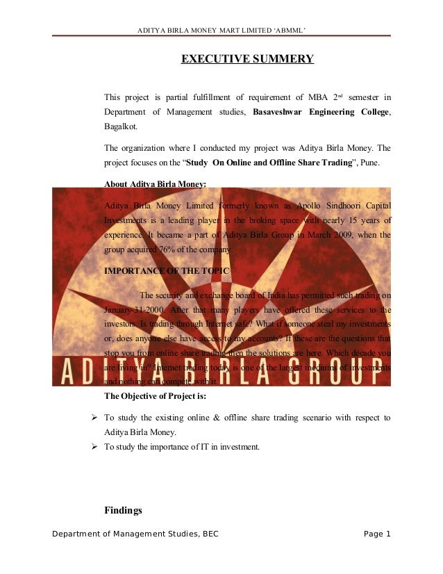 55525761 About Aditya Birla Money Limited