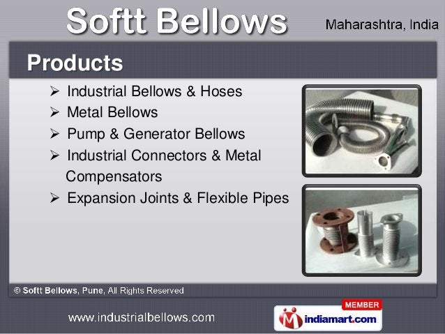 Products  Industrial Bellows & Hoses  Metal Bellows  Pump & Generator Bellows  Industrial Connectors & Metal   Compens...