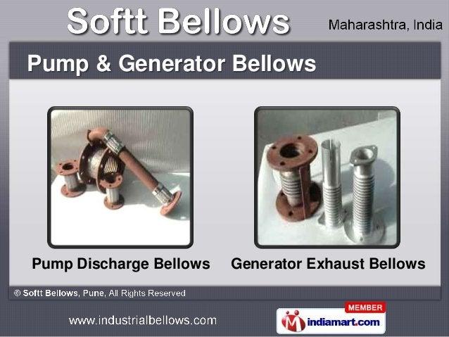 Pump & Generator BellowsPump Discharge Bellows   Generator Exhaust Bellows