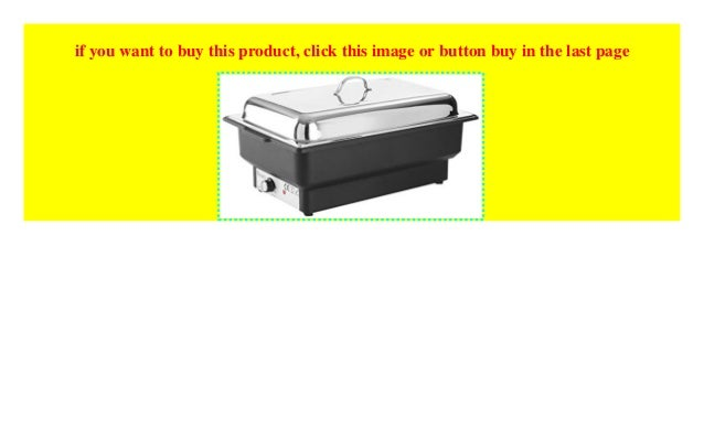 Hendi 204825 Chafing Dish Elektrisch Tellano