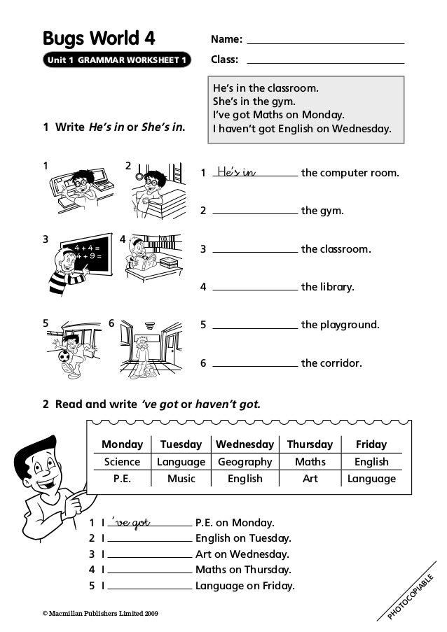 55646786 Bugs-world-4-grammar-worksheets(2)
