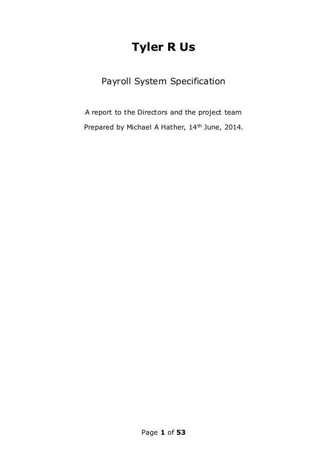 payroll system srs This document contains srs of employee payroll and task management  system this srs has complete requirements of employee.