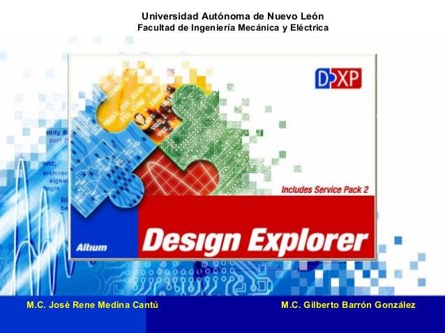 Universidad Autónoma de Nuevo León Facultad de Ingeniería Mecánica y Eléctrica 1 M.C. José Rene Medina Cantú M.C. Gilberto...