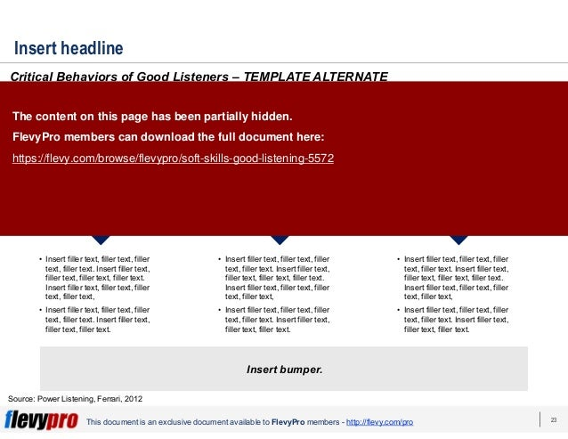 23 This document is an exclusive document available to FlevyPro members - http://flevy.com/pro Insert headline Critical Be...