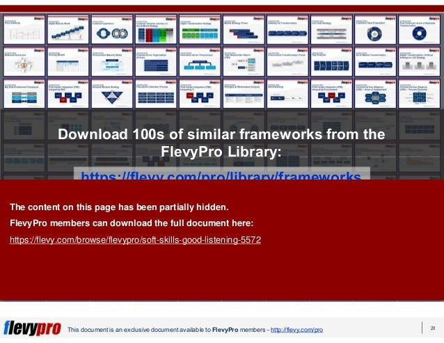 28 This document is an exclusive document available to FlevyPro members - http://flevy.com/pro Download 100s of similar fr...