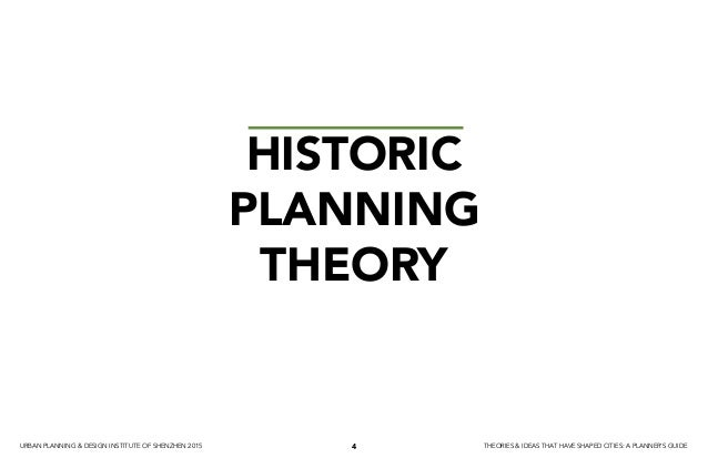 Planning Theory and Ideas