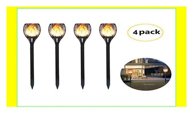 Solarleuchte 96 LED Garten Beleuchtung Solar Licht Lampe Fackel Leuchte Flamme W
