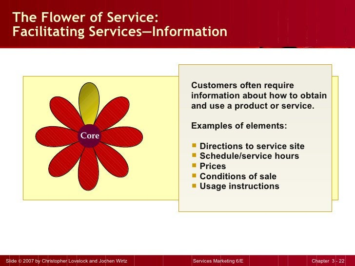 The Flower of Service:  Facilitating Services — Information <ul><li>Customers often require information about how to obtai...