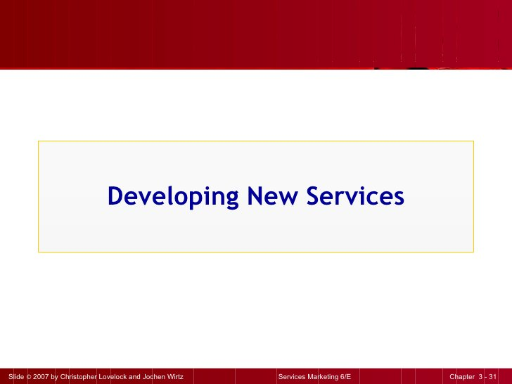Developing New Services