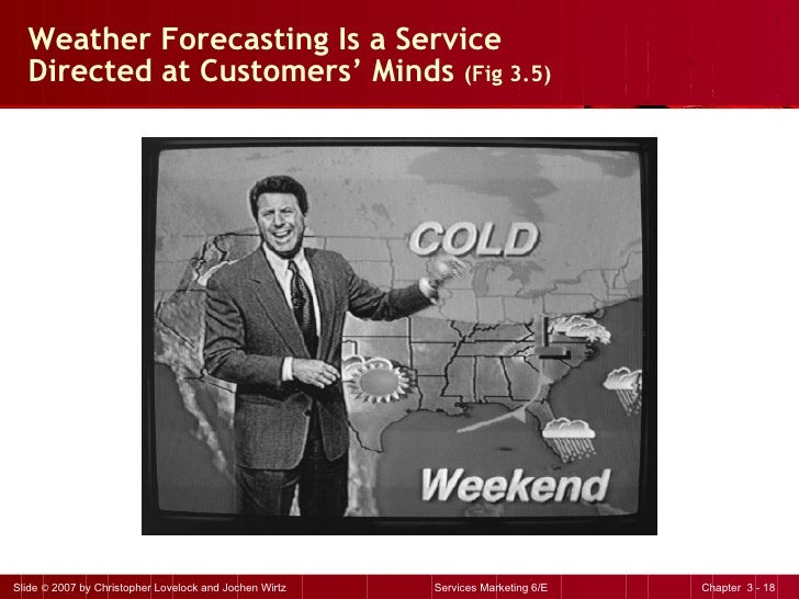 Weather Forecasting Is a Service Directed at Customers' Minds  (Fig 3.5)