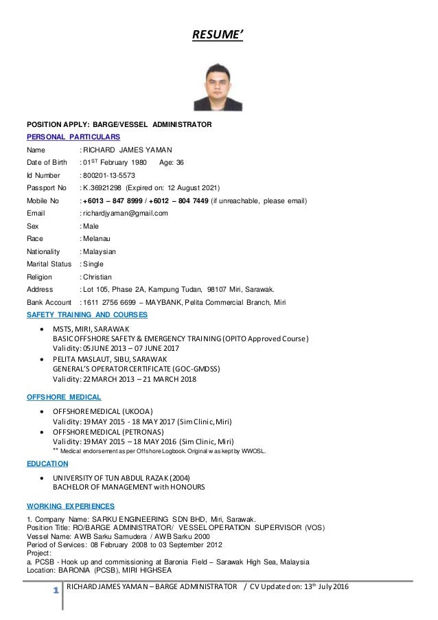 offshore cv templates general manager resume samples visualcv
