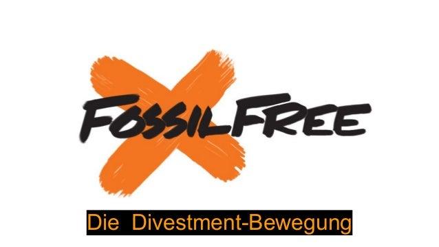 Die Divestment-Bewegung