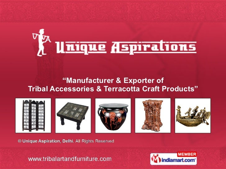 """ Manufacturer & Exporter of Tribal Accessories & Terracotta Craft Products"""