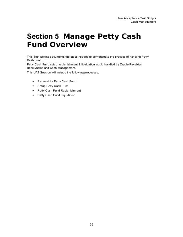 request for petty cash letter