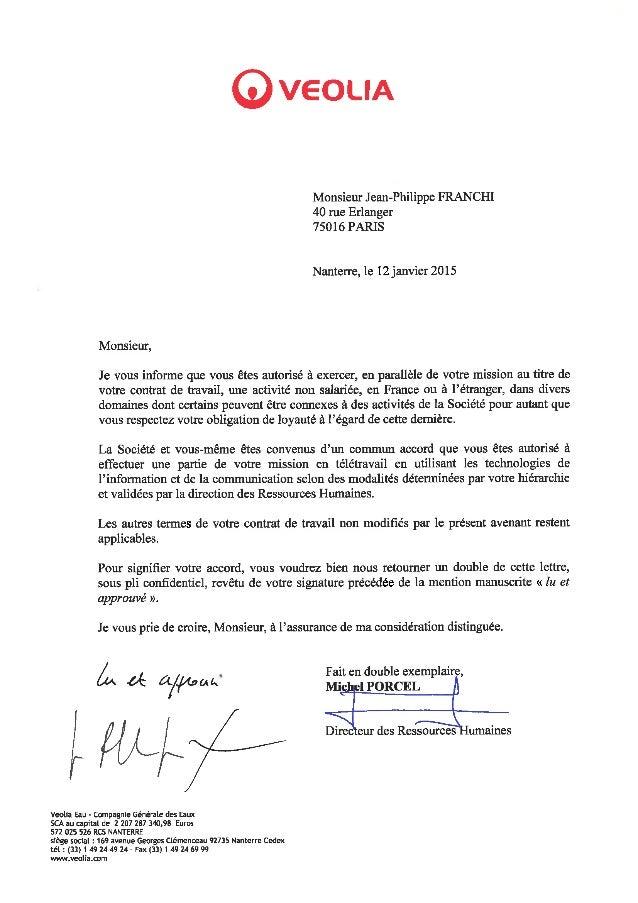 Veolia Eau_Avenant au contrat de travail de Jean Philippe Franchi_120…