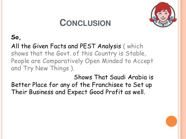 CONCLUSION So, All the Given Facts and PEST Analysis ( which shows that the Govt. of this Country is Stable, People are Co...