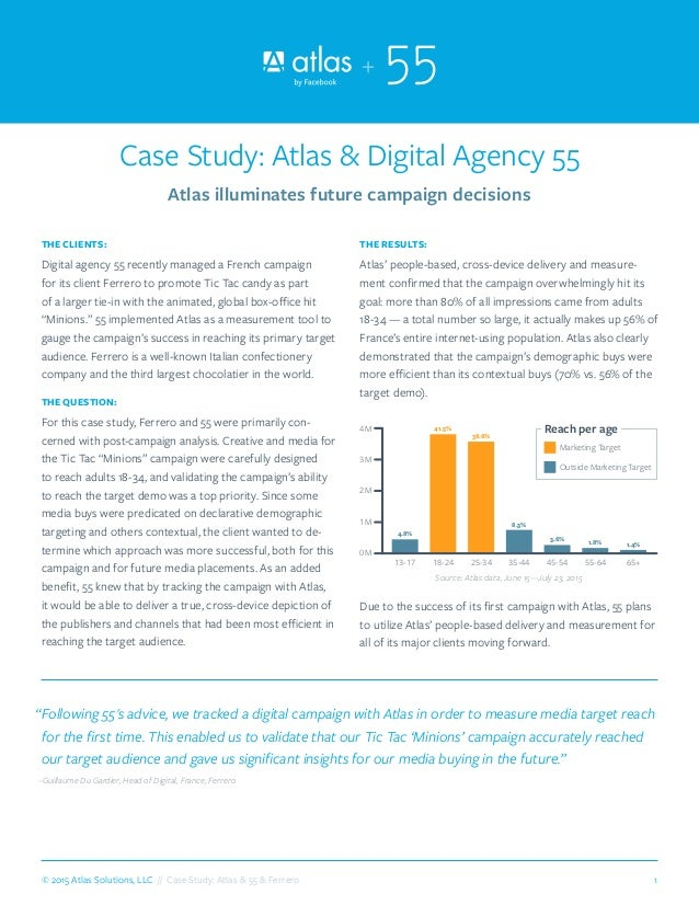 1© 2015 Atlas Solutions, LLC // Case Study: Atlas & 55 & Ferrero THE CLIENTS: Digital agency 55 recently managed a French ...