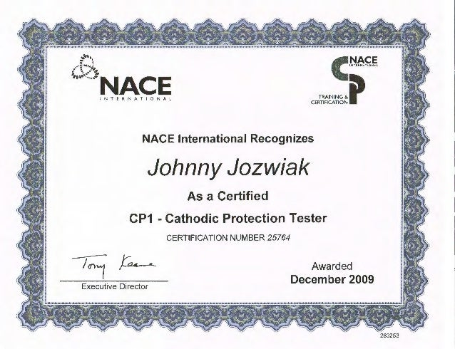 nace cathodic protection cp1 tester certification slideshare cert upcoming training
