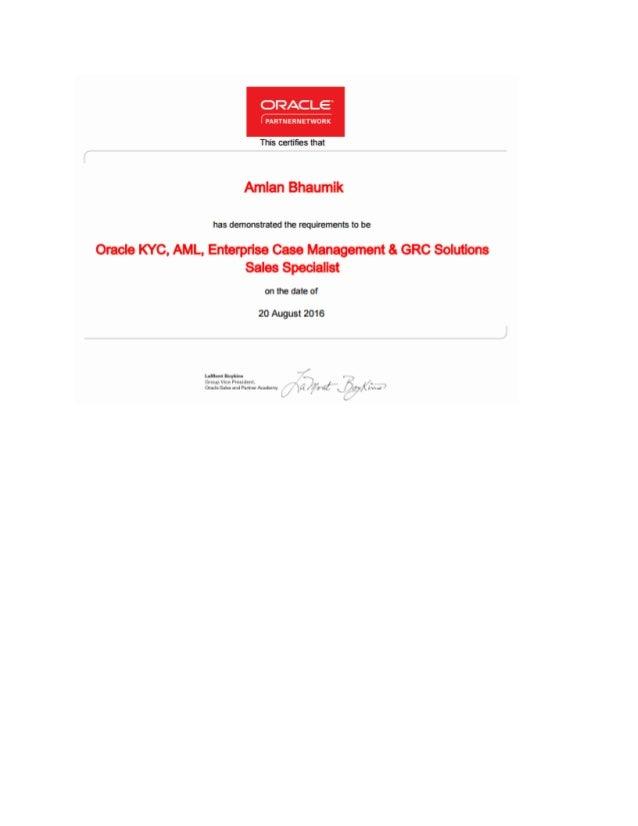 FCCM KYC Certificate