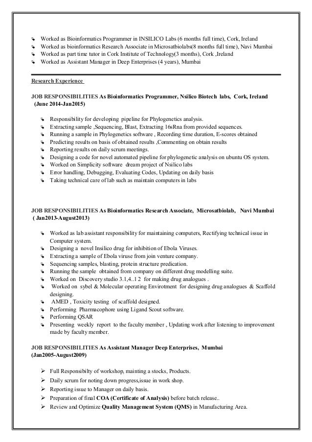 amol-kunde-resume-3-638 Objectives On Bioinformatics Scientist Resume on
