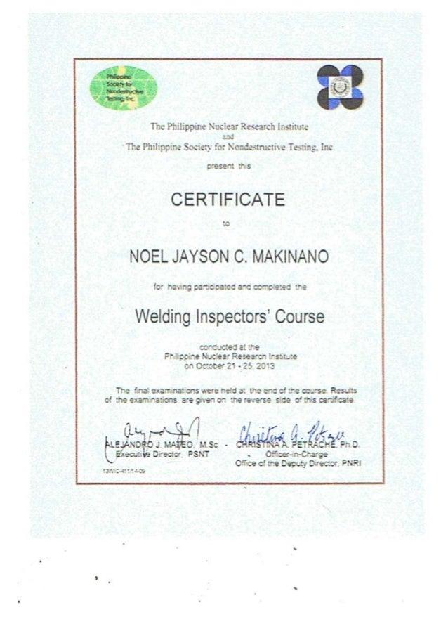 jayson certificate