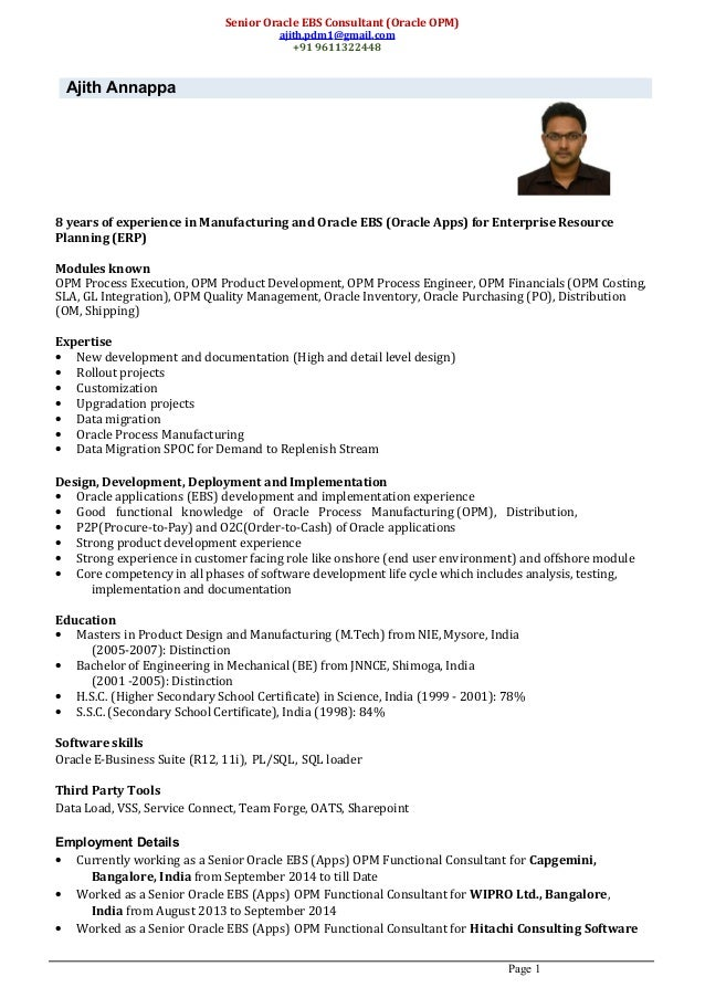 oracle ebs director resume 28 images resume for oracle