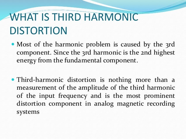 harmonic distortion ppt