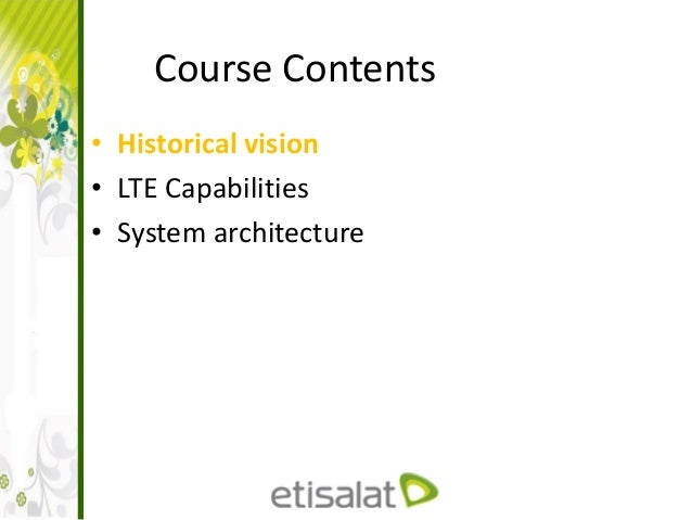 LTE Architecture and interfaces Slide 2