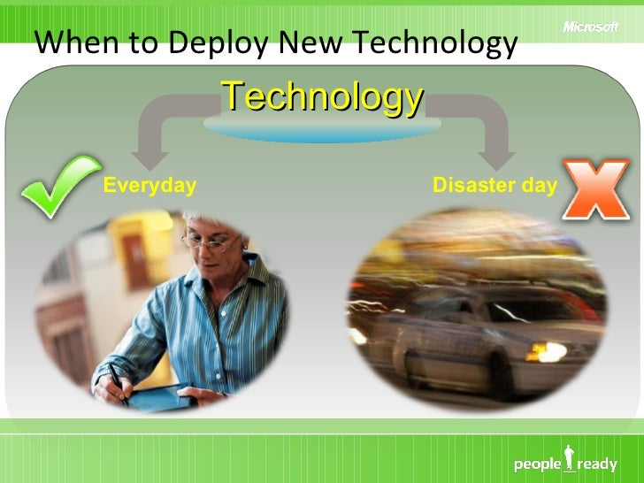 When to Deploy New Technology Technology Everyday Disaster day
