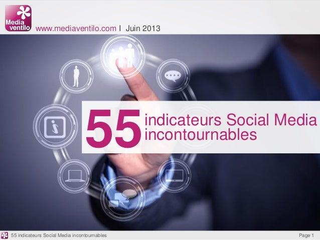 55www.mediaventilo.com I Juin 2013indicateurs Social MediaincontournablesPage 155 indicateurs Social Media incontournables