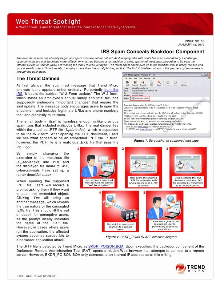 Web Threat Spotlight A Web threat is any threat that uses the Internet to facilitate cybercrime.                          ...