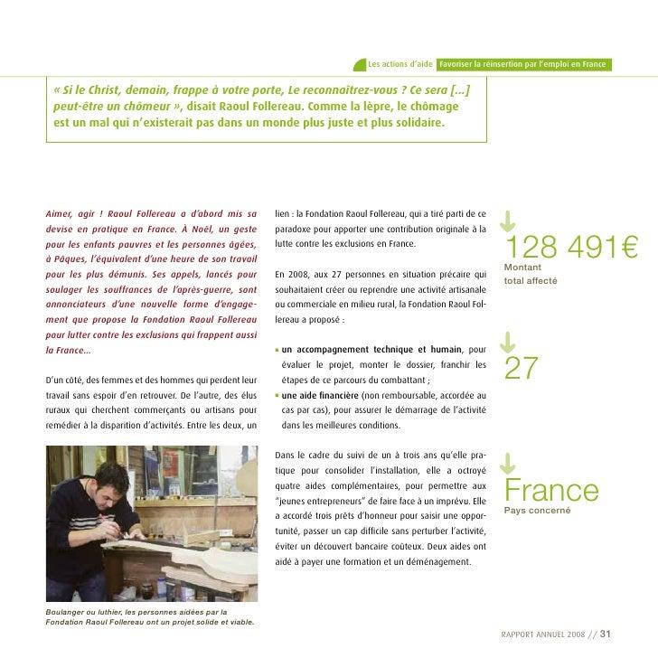 Les actions d'aide Favoriser la réinsertion par l'emploi en France     «SileChrist,demain,frappeàvotreporte,Lere...