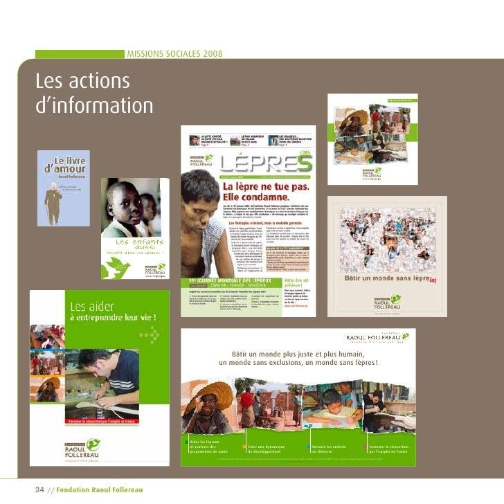 MISSIONS SOCIALES 2008   Les actions d'information                                                                        ...