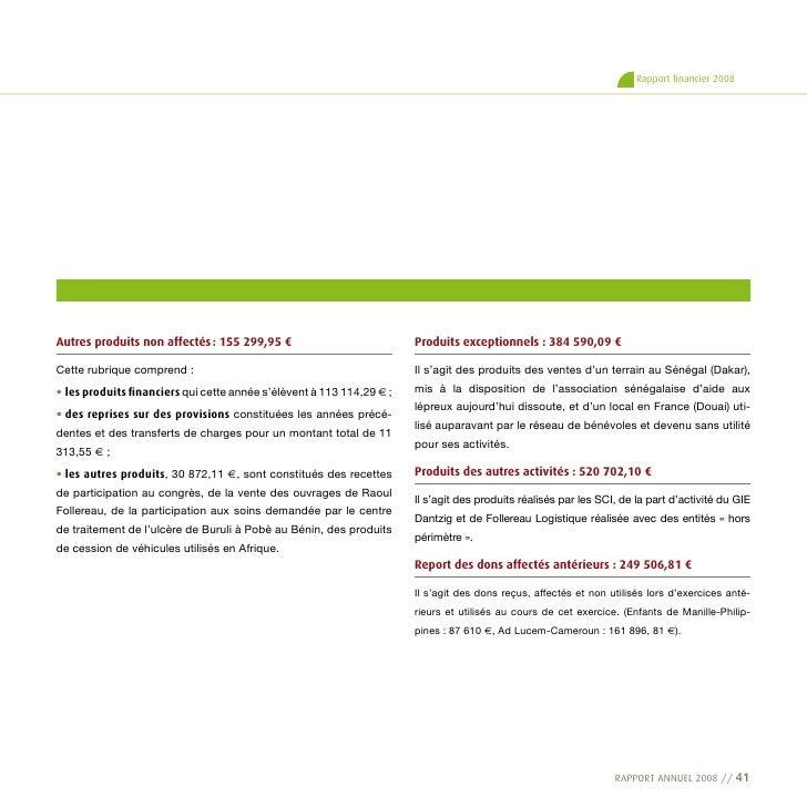 RF 55f - Fondation Raoul Follereau - Rapport Annuel 2008