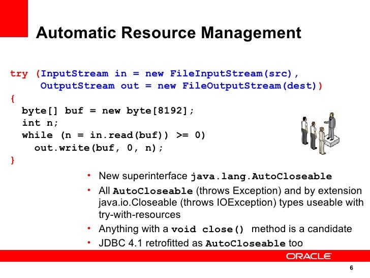 java 7 try with resources