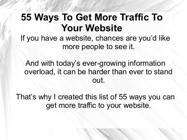 how to bring more traffic to your website