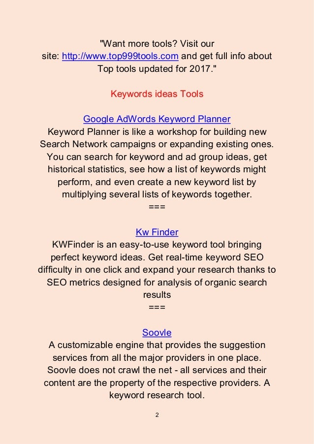 Top 56 Keyword Ideas Tools - 웹