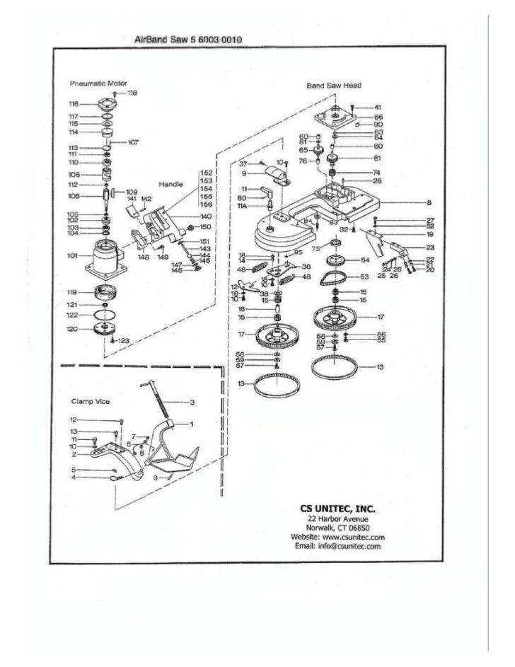 cs unitec pneumatic band saw schematic  5 6003 0010