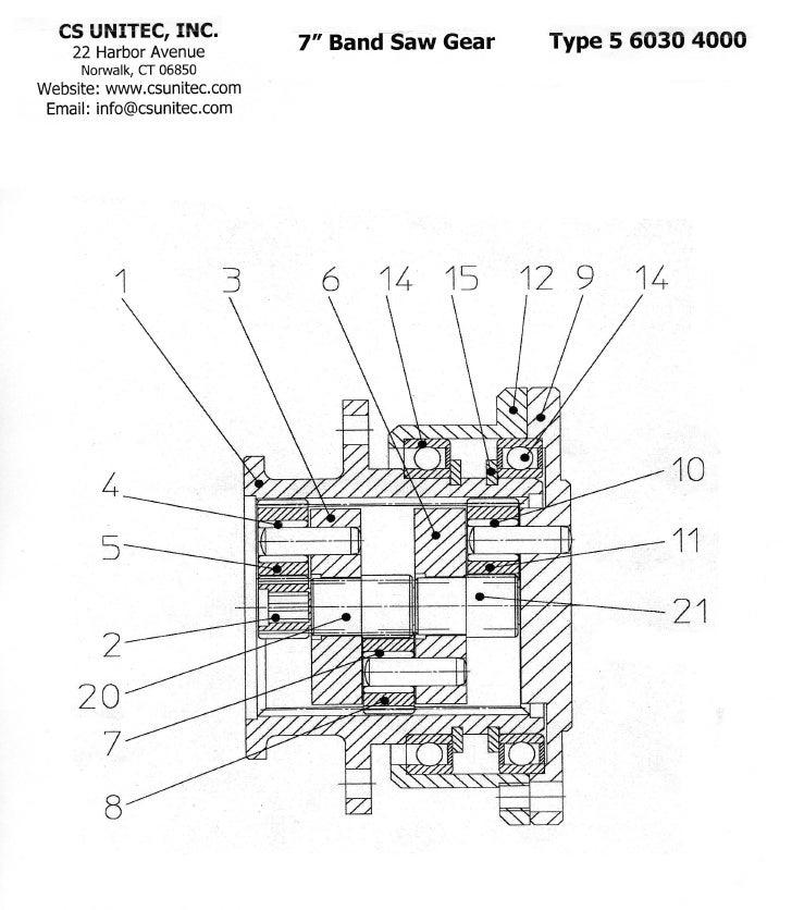Cs Unitec Pneumatic Band Saw Schematic 5 6031 0010