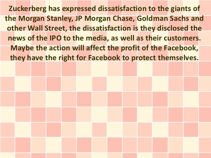 Zuckerberg warned the Wall Street do not disclose the IPO information of Facebook Slide 2