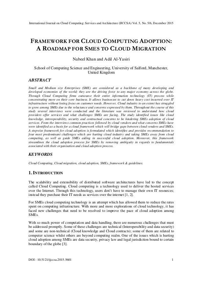 International Journal on Cloud Computing: Services and Architecture (IJCCSA) Vol. 5, No. 5/6, December 2015 DOI : 10.5121/...