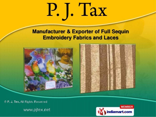 Manufacturer & Exporter of Full Sequin   Embroidery Fabrics and Laces