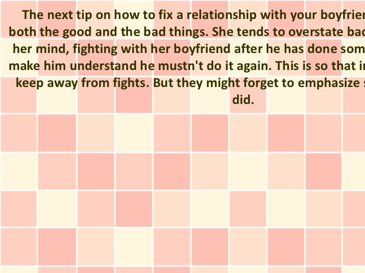 How To Fix A Relationship After A Fight