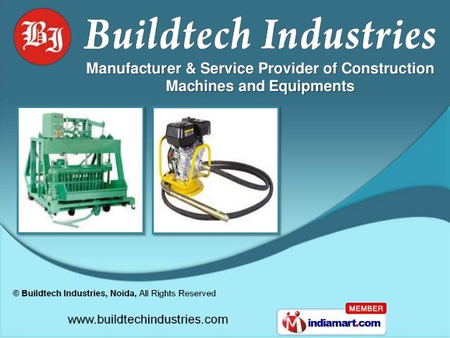 Manufacturer & Service Provider of Construction          Machines and Equipments